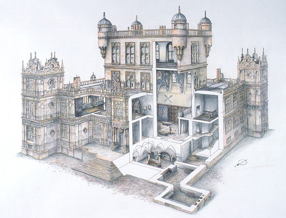 Wollaton Hall Cutaway Section Don T Ask Me How They Got
