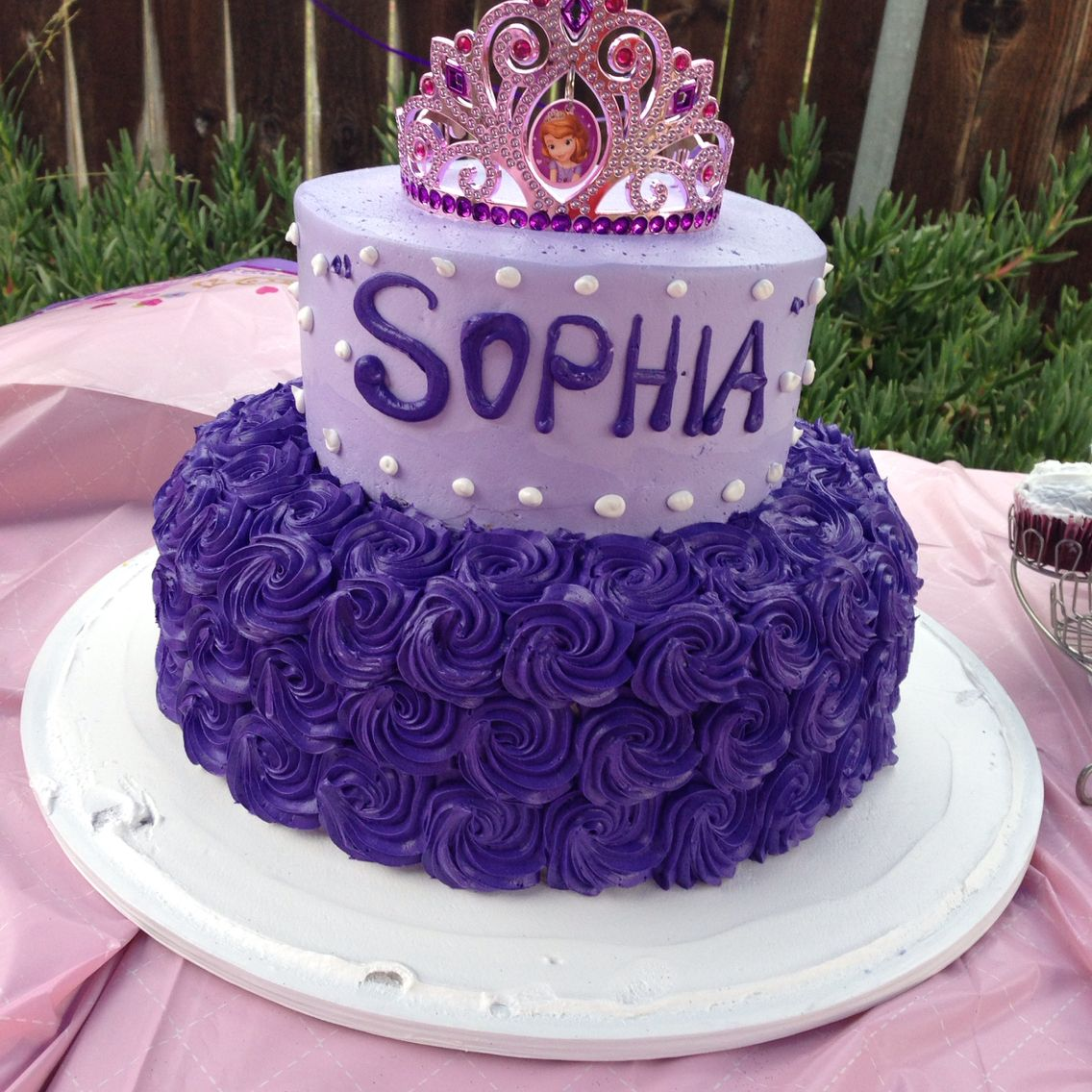 Sophia the First cake First birthday cakes, Sophia the