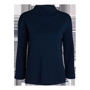 Finstickad tröja Blå