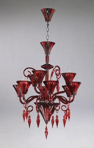 4077 red murano glass chandelier candelabros cristal de murano y 4077 red murano glass chandelier add a bold splash of color to your house with this aloadofball Images