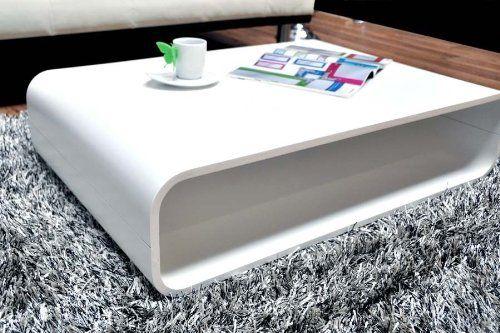 Lounge Couchtisch Retro 120x60cm Weiß | Moderner Couchtisch