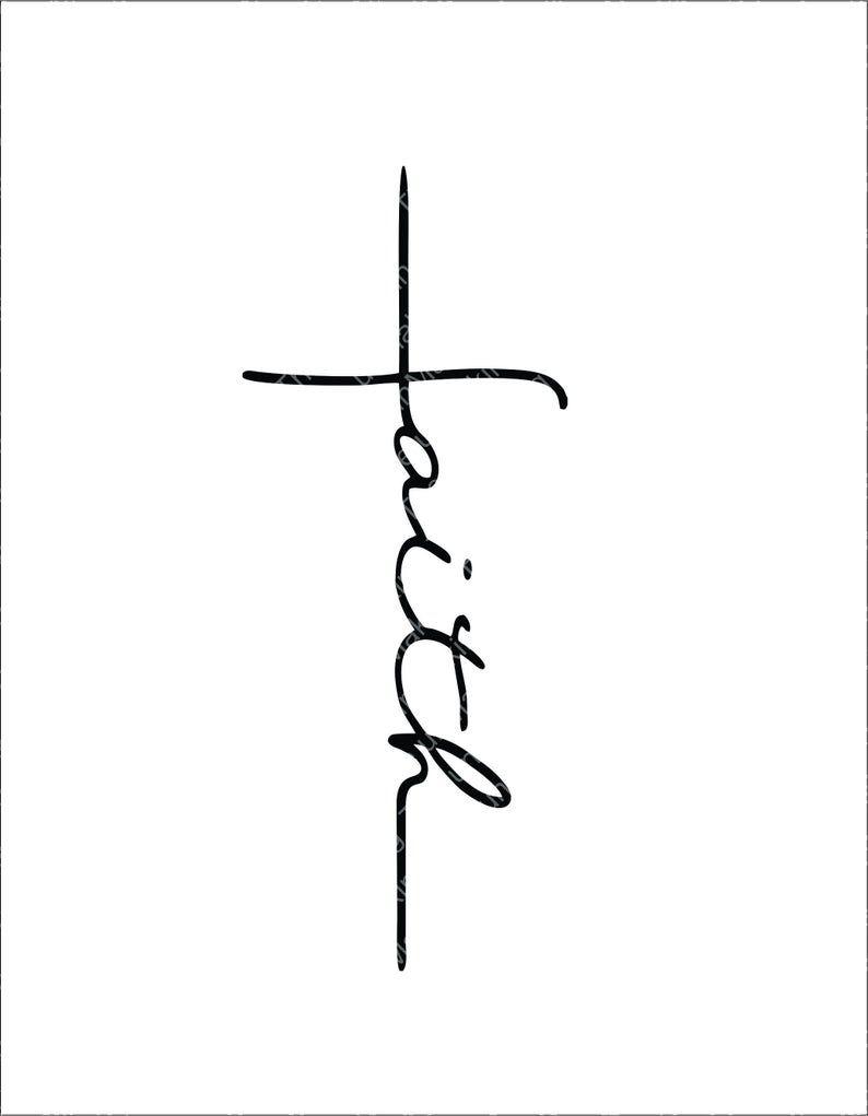 Faith Cross svg, Faith Cross cut file, faith cross clipart, faith svg, cut files for cricut silhouett, PNG, EPS, DXF