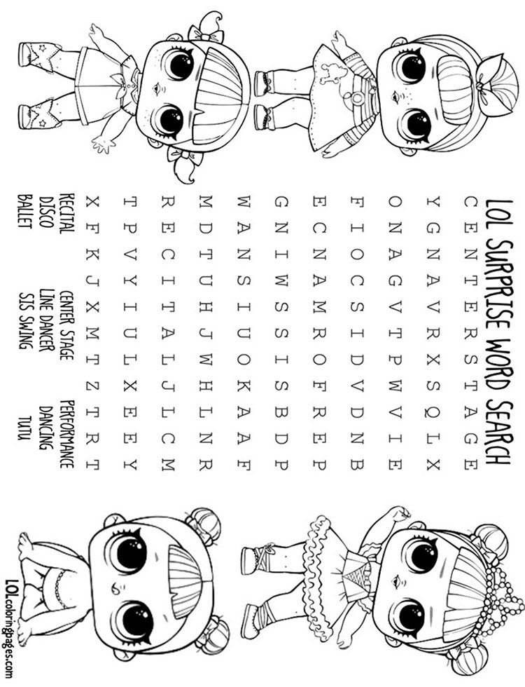 Lolwordsearch 010 Dance Club Jpg 750 980 Pixels Lol Dolls Horse Coloring Pages Animal Coloring Pages