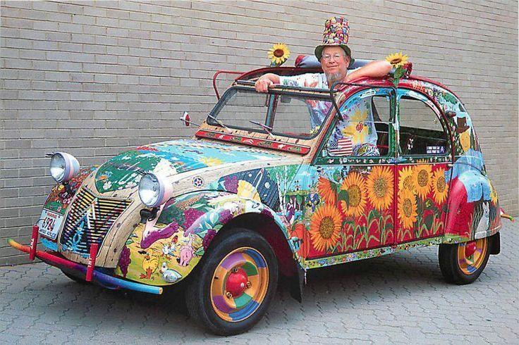 citroen 2cv hippie