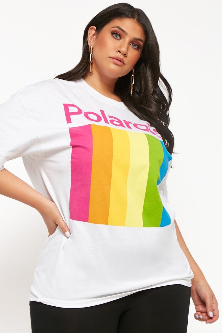f9b7c2c0bc6 Plus Size Polaroid Graphic Cropped Tee | fashion in 2019 | Crop tee ...