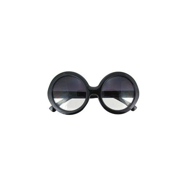 Black Oversize Half-Tinted Sunglasses ($12) ❤ liked on Polyvore