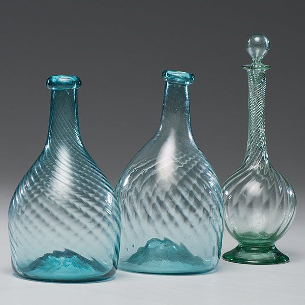 Sold For 325 American Zanesville Ohio Two Blown Glass Club