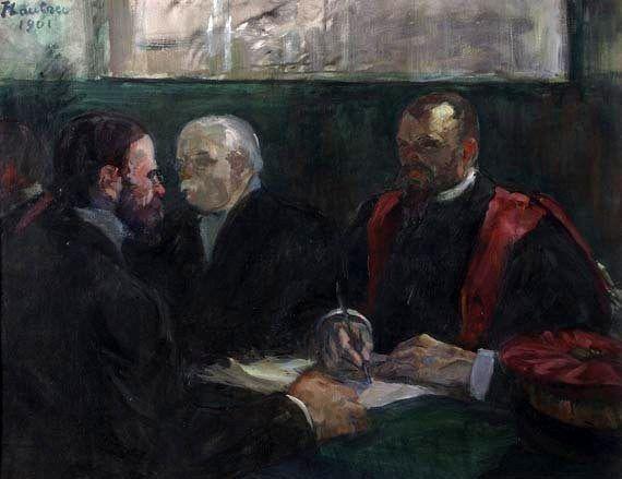 Henri de Toulouse-Lautrec (1864-1901). Un Examen à la Faculté de Médecine de Paris (1901) Óleo sobre cartón. 65 x 81 cm. (C) Musée Toulouse-Lautrec. Albi. Francia