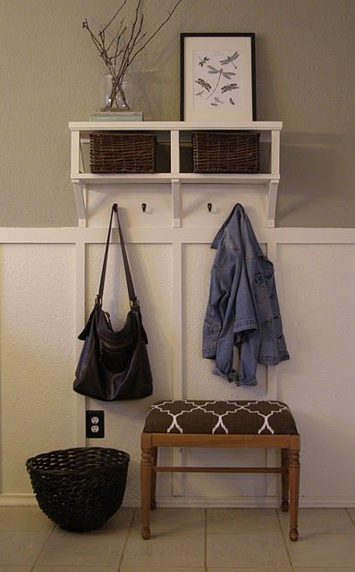 """little """"mud room"""" in a small space. this is exactly what i need by my back door."""