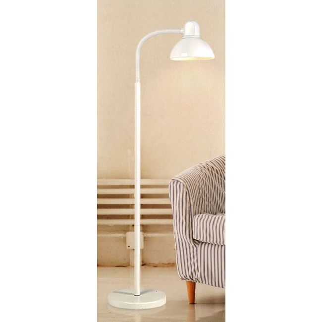 White Gooseneck Floor Lamp spray painted another color.