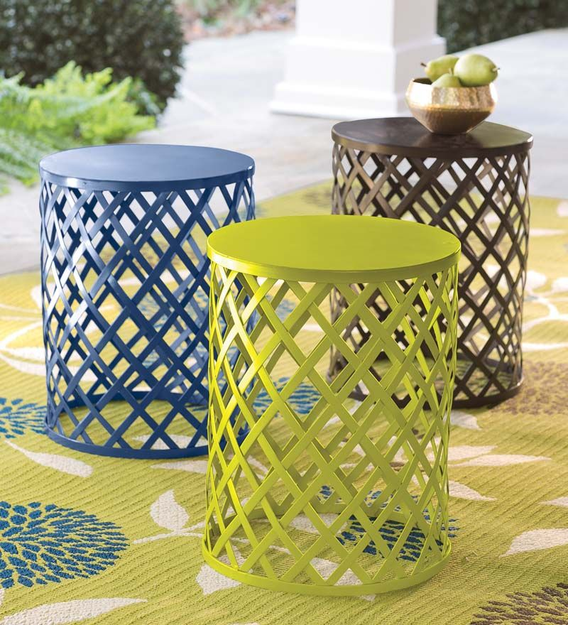 Metal Lattice Side Table Metal Elements Are Great In Creativity