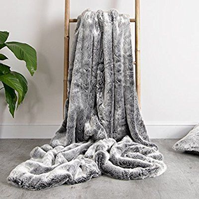 Icon Luxury Faux Fur Throw 150cm X 200cm Soft Extra Large Luxurious Throws For