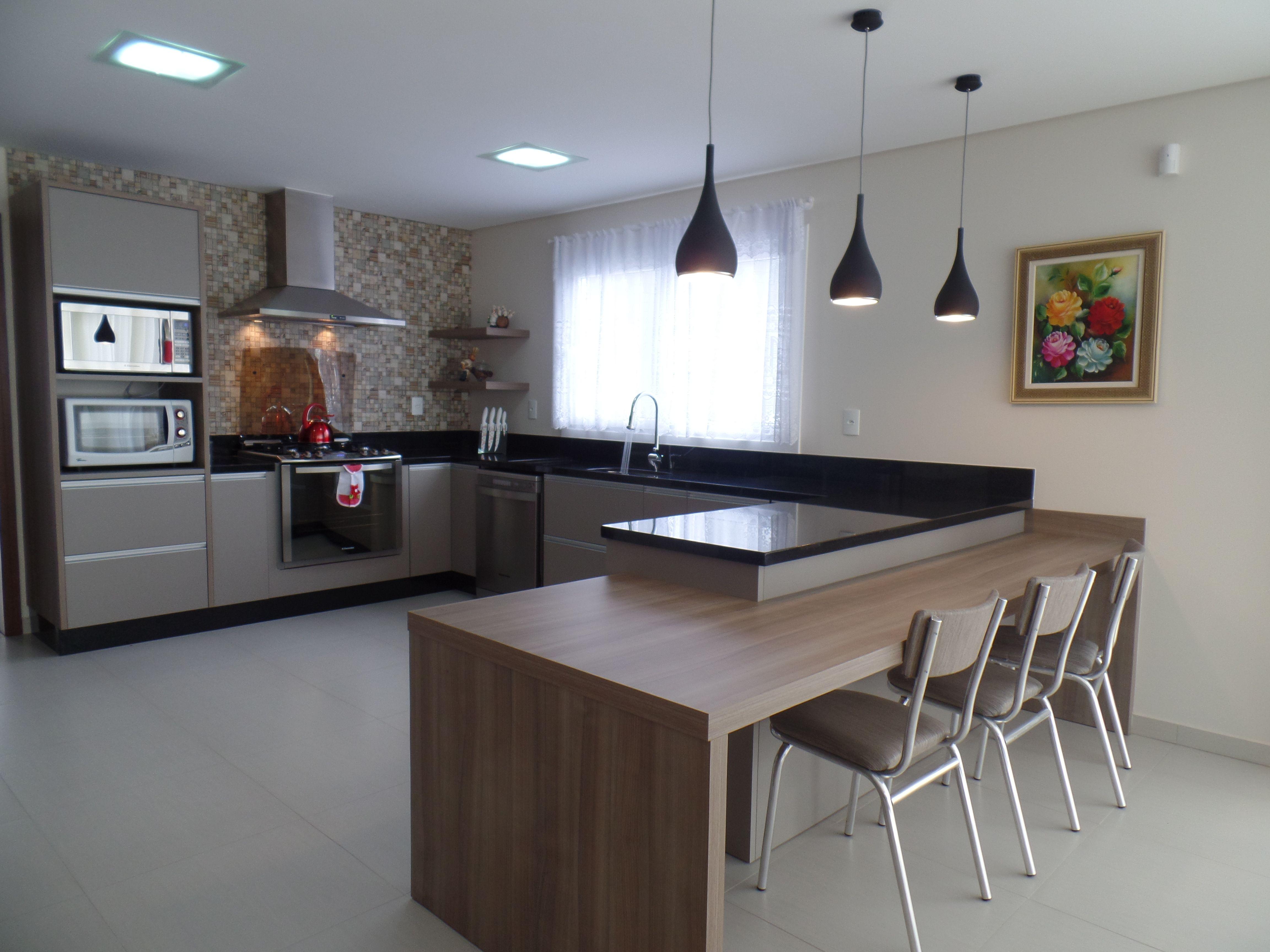 Bancada De Cozinha Em Granito Preto S O Gabriel Cozinhas  ~ Bancada Cozinha Granito Preto