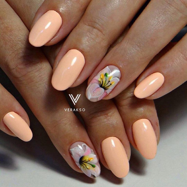 Nail art 2312 best nail art designs gallery flower nail art beautiful nails 2017 flower nail art lily nails medium nails nails ideas prinsesfo Gallery