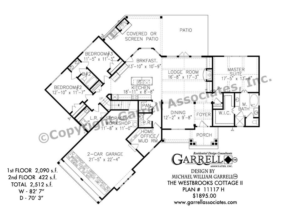 Westbrooks cottage ii house plan 11117 h 1st floor plan rustic mountain style house plans lake house plans