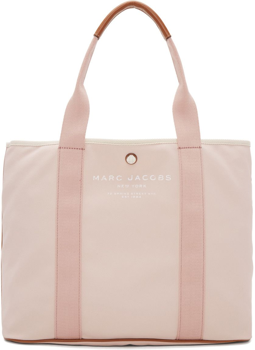 c11b3b11a2e8 MARC JACOBS Pink East West Tote.  marcjacobs  bags  leather  hand bags   canvas  tote  lining