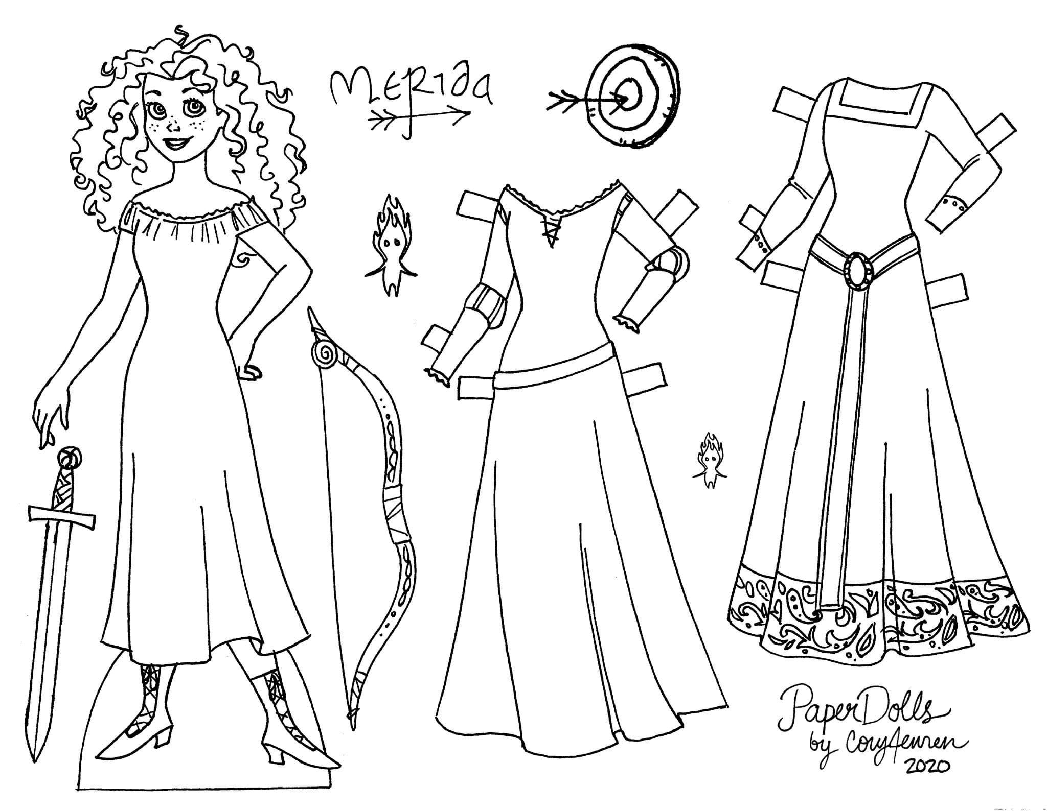 Pin by Elizabeth Crockett on Paper Dolls in 2020   Disney ...