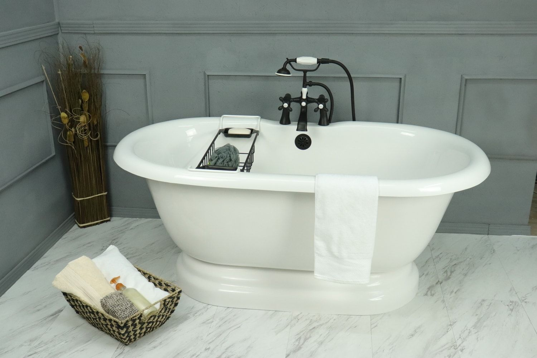 Perfect Pedestal Vintage Bathtub To Complete Your Bathroom Ideas Ba Dpd60 900a Ob Refinish Bathtub Vintage Bathtub Bathtub Remodel
