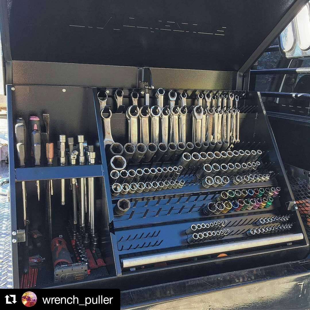 New Tool Box For Service Truck Truck Tool Box Truck Organization Truck Toolbox Organization