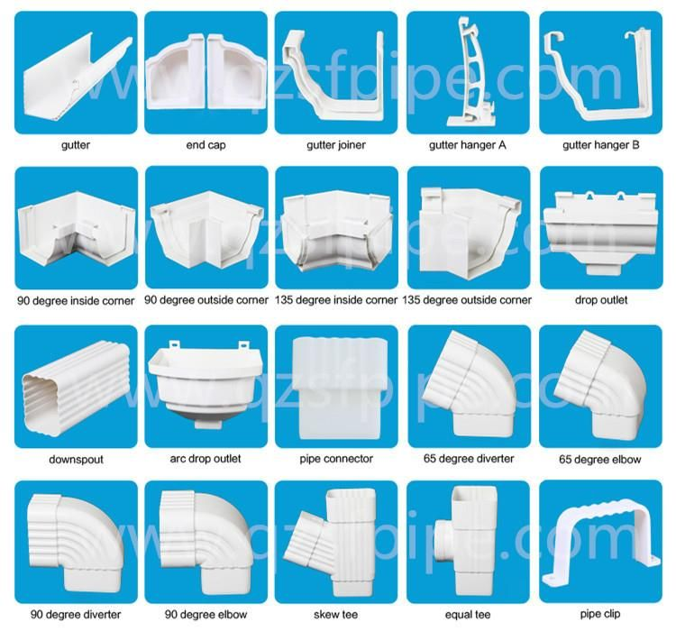 China Attractive Price Pvc Gutter System 45 Degree Diverter 6 Inches Manufacturer And Supplier Factory Wholesale Pvc Gutters Downspout Drainage Downspout