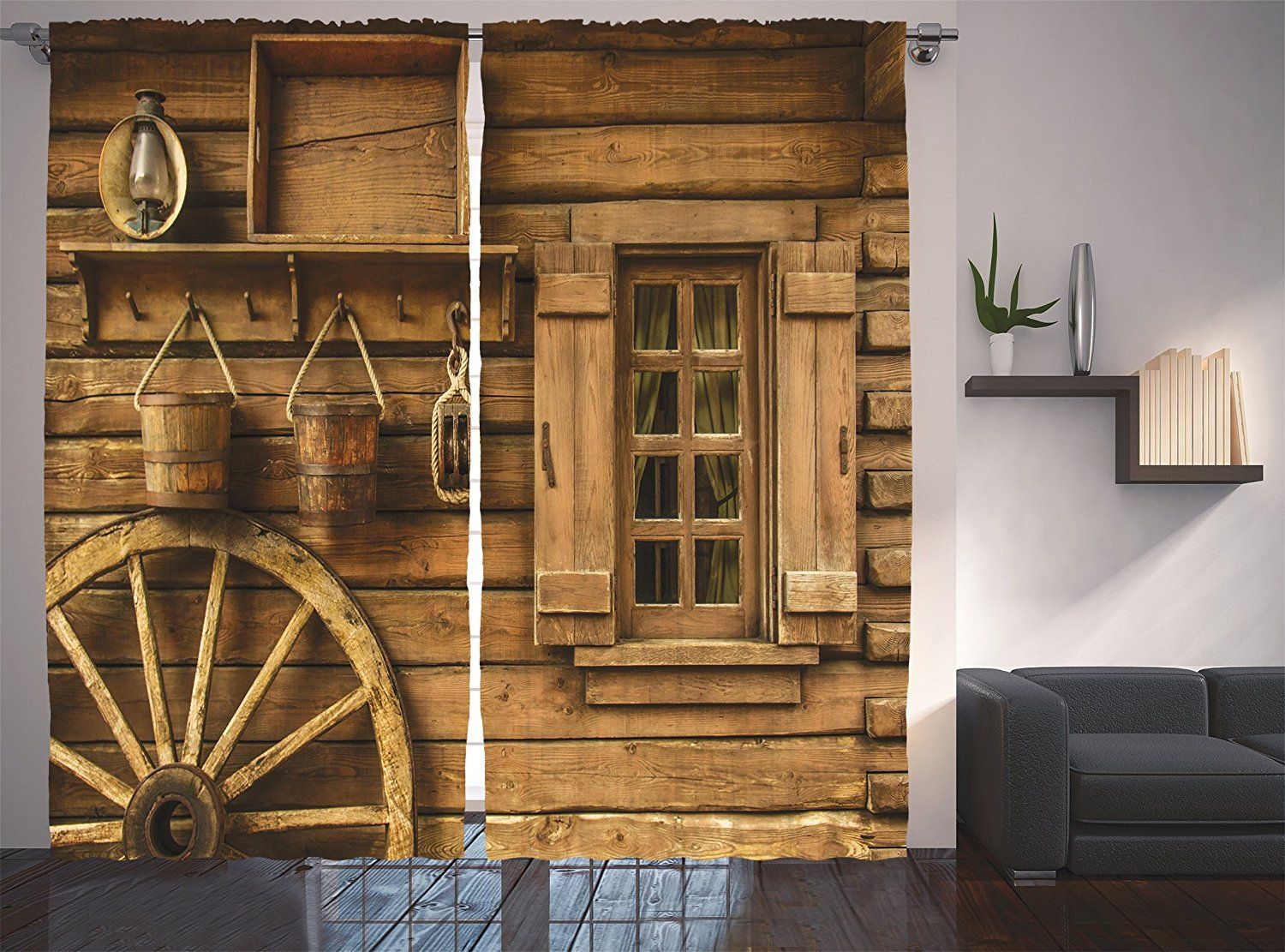 Amazon.com: Ambesonne Western Decor Collection, Old ...