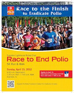 April 15: Evanston Lighthouse Rotary Club's Race to End Polio