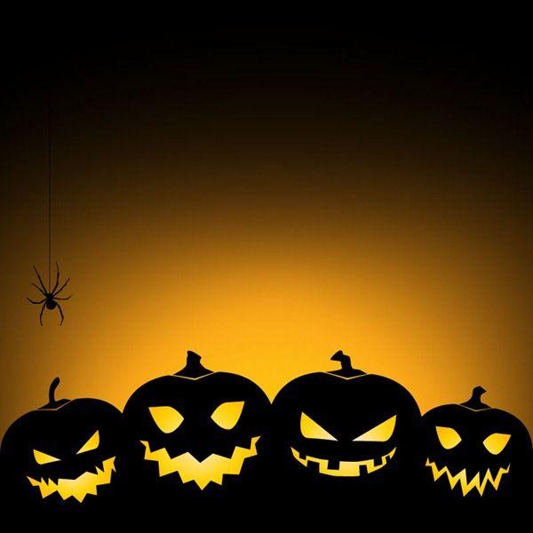 Halloween Pumpkins Background Vector Graphics Halloween Poster