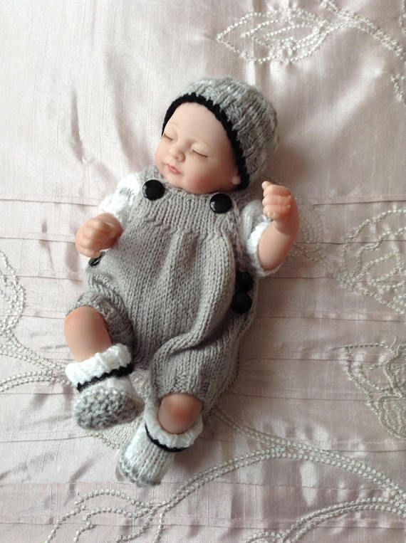 Hand Knitted Dolls Clothes To Fit 10 Dollreborn Baby Knits