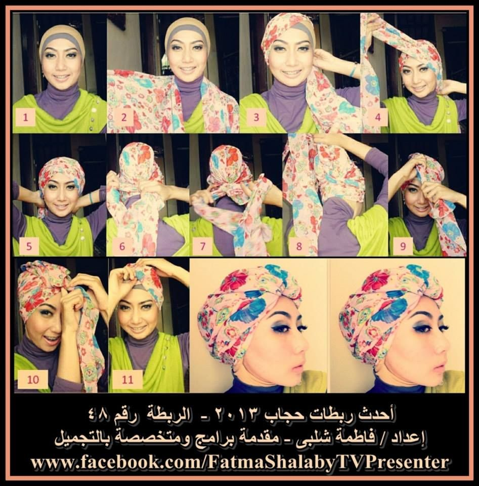 Tutorial Jilbab Modern Turban Style Tutorial Hijab Pinterest