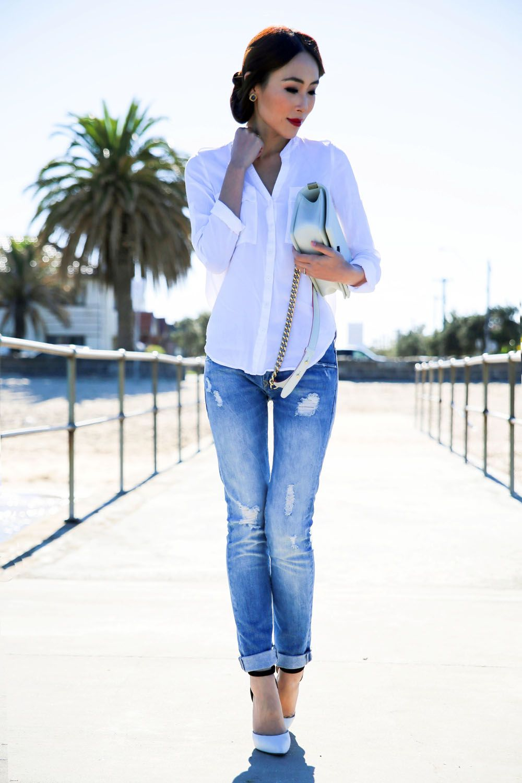 Five Ways to Make Boyfriend Jeans Look Feminine | THE TIA
