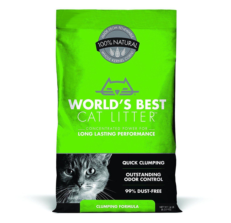 World's Best Cat Litter Clumping Formula, 14Pound Bag