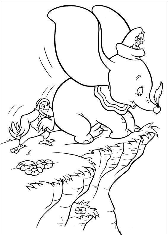 Dibujos para Colorear Dumbo 3 | para colorear | Pinterest