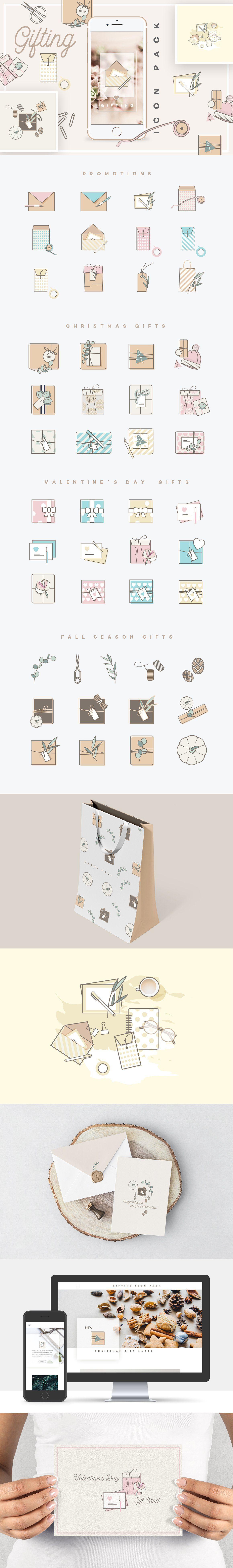 Gifting Icon Pack by Polar Vectors on @creativemarket  #ad #affiliatelink #affiliate #font #design #templates #blogger #blog #creative #feminine #girlboss #instagram #socialmedia