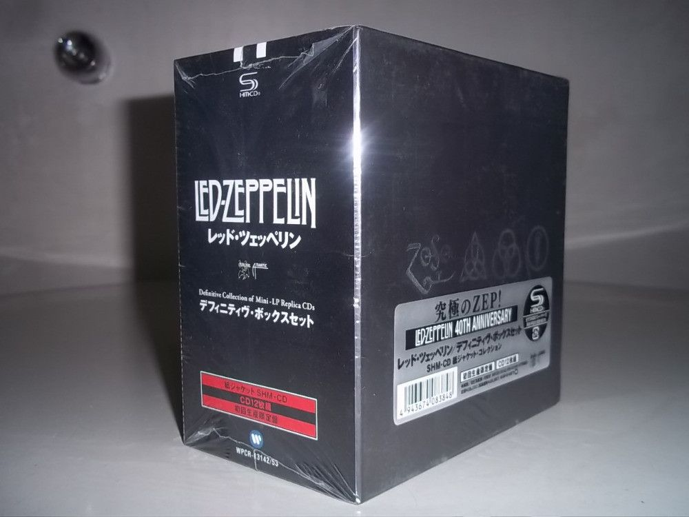 led zeppelin definitive collection 40th anniversary cd box set rock music collectors to buy. Black Bedroom Furniture Sets. Home Design Ideas