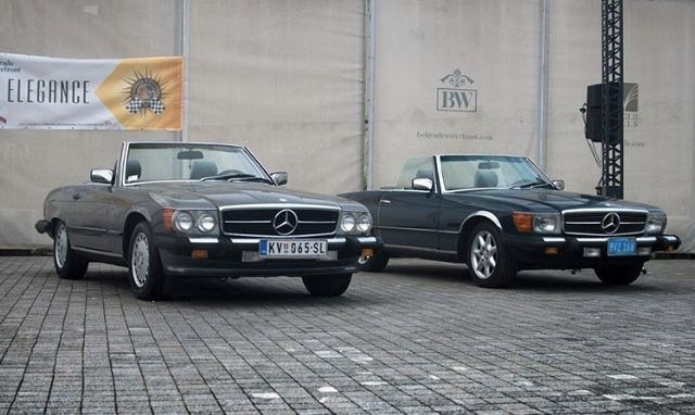 Us And European Headlamps On R107s Mercedes Benz Classic Classic Mercedes Mercedes Benz