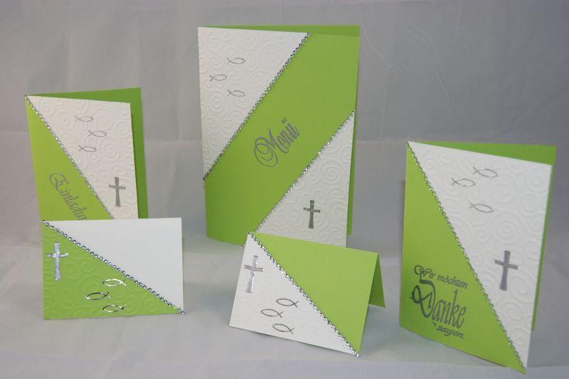 Kommunion taufe konfirmation einladung danksagung von for Einladungskarten kommunion basteln