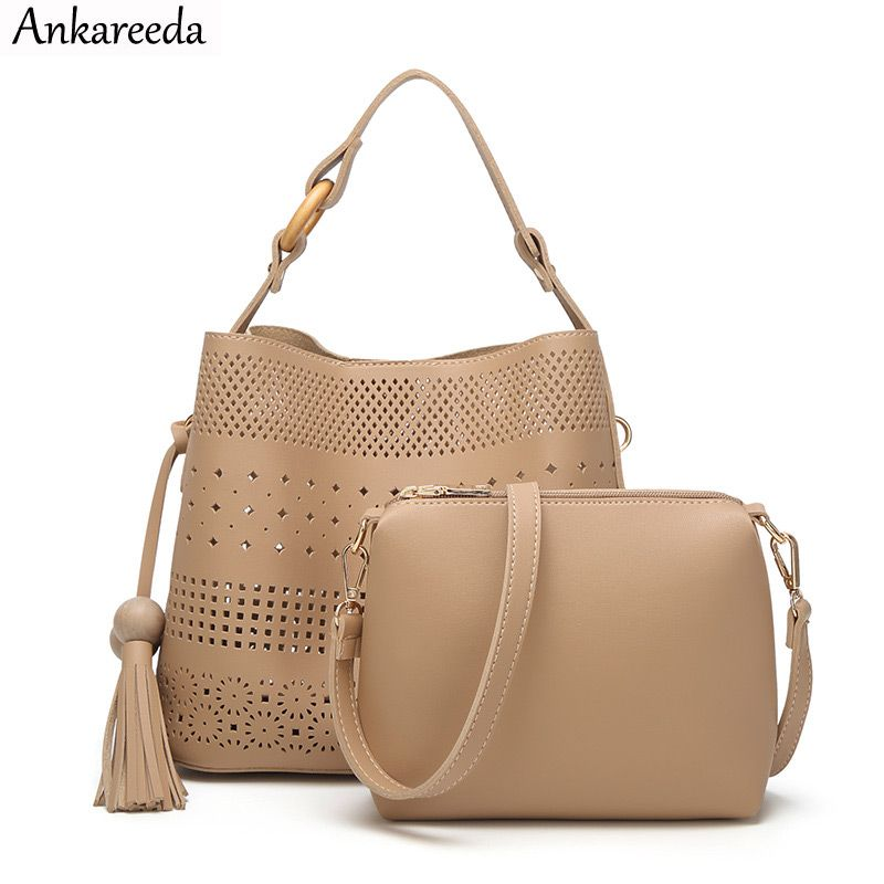 530a1bd7594 Wholesale Ankareeda Luxury Brand Hollow Out Composite Handbags Fashion  Wooden Beads Tassel Women Shoulder Bags High Quality Tote Bag New Price    US  41.94 ...