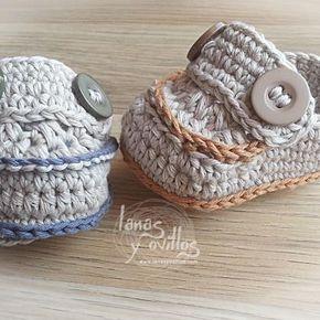 baby crochet mocasins bootie free pattern patrón gratis