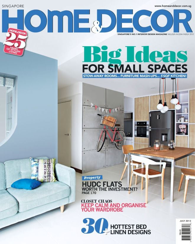 Home Decorating Magazine Subscriptions: Home & Decor Singapore Magazine