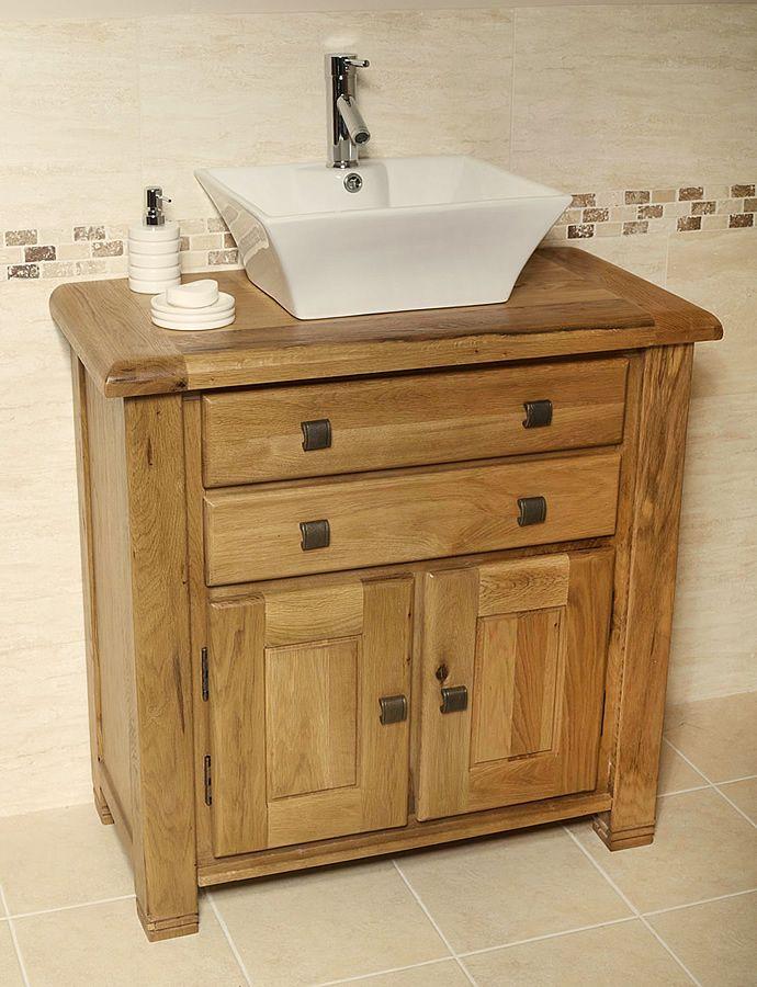 Ohio Rustic Oak Bathroom Cabinet Vanity Unit Mobel Oak Oak Bathroom Vanity Oak Bathroom Oak Vanity Unit
