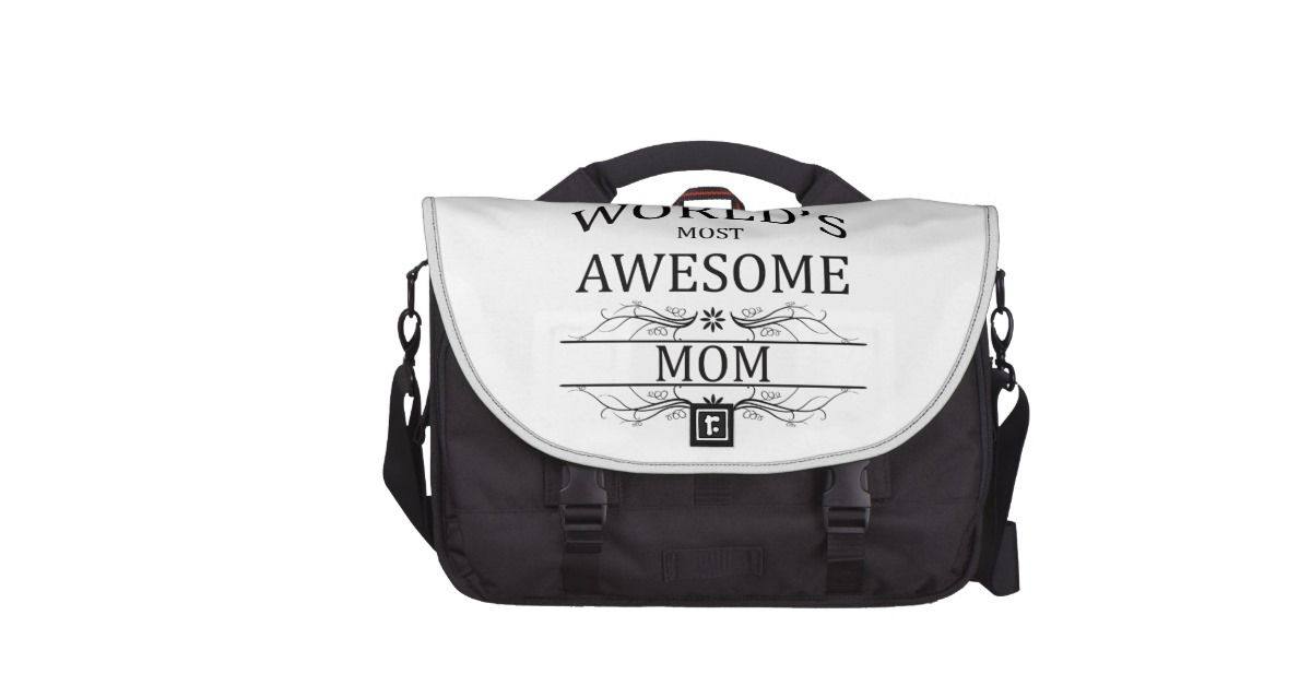 World's Most Awesome Mom Laptop Computer Bag