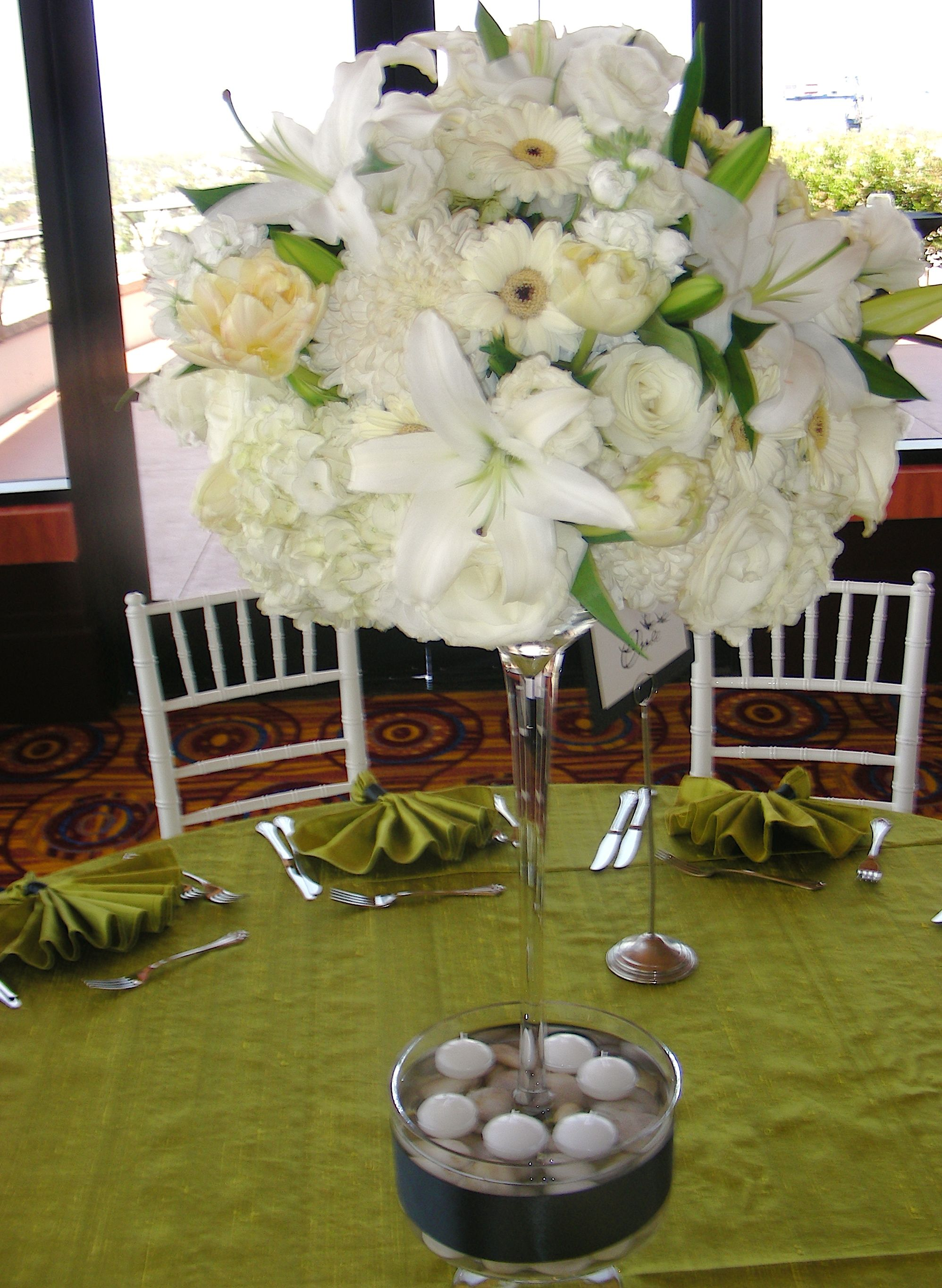 Unique tall wedding centerpieces