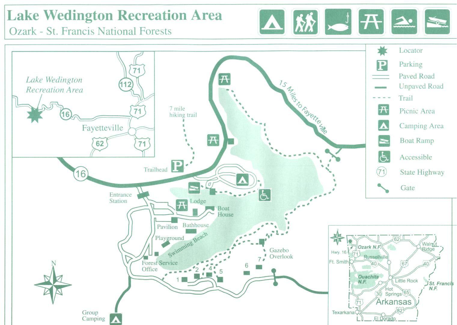Lake Wedington Camping Area Picnic Area Recreation Area