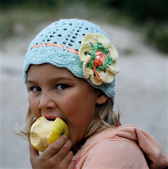 Crochet Cotton Lace Hat with Flower for Children (4-8 yo) - PDF ...