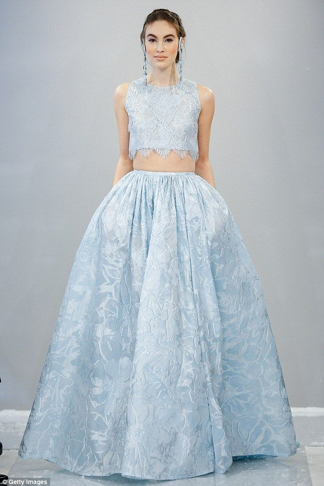 Elsa-inspired wedding gowns take over the runway at Bridal Week ...