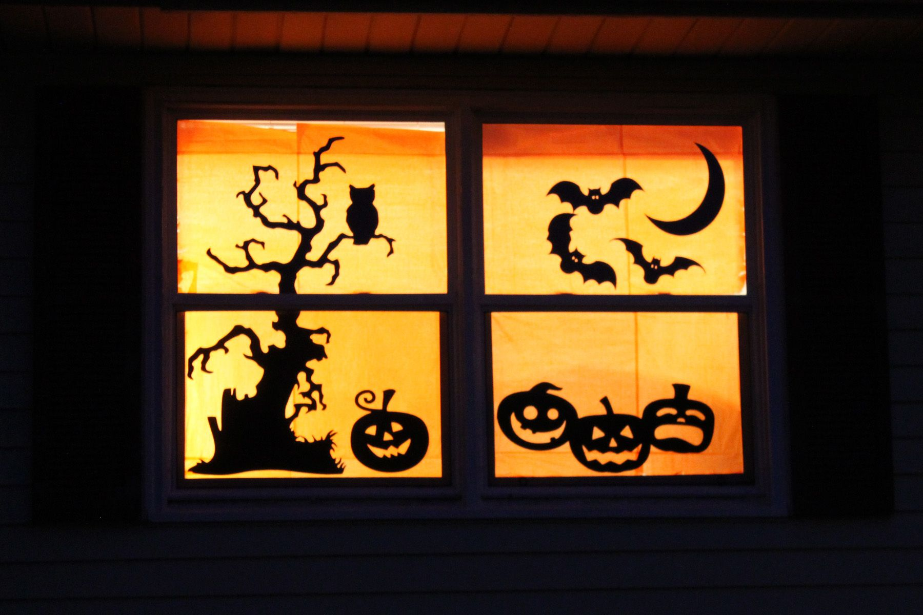 Halloween Silhouette Windows 05 Halloween Pinterest Halloween - Window Halloween Decorations