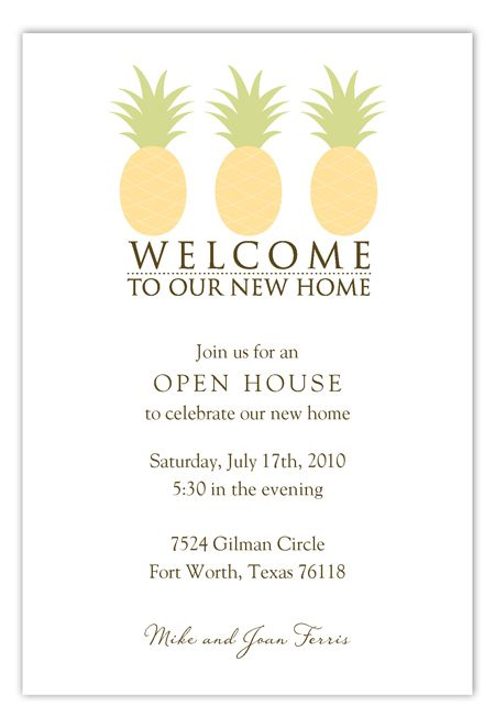 Welcome To Our New Home Invitation – Welcome Party Invitation