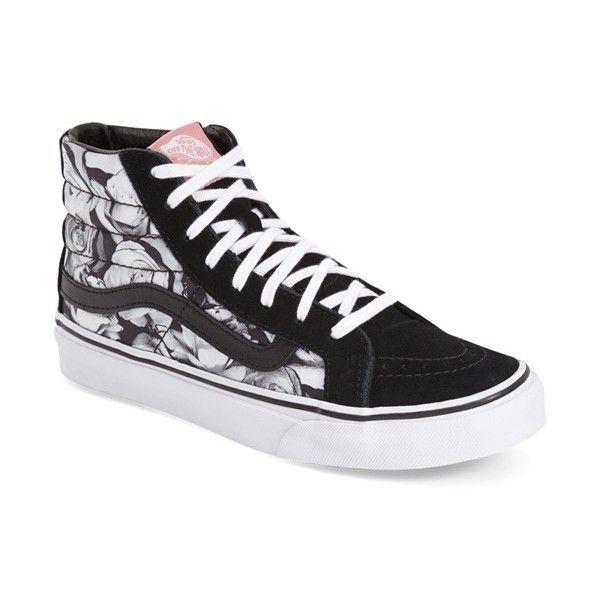 Vans 39Sk8Hi Slim  Digi Roses39 Sneaker 65  liked on Polyvore feat  Vans Sk8Hi Slim  Digi Roses Sneaker 65  liked on Polyvore feat
