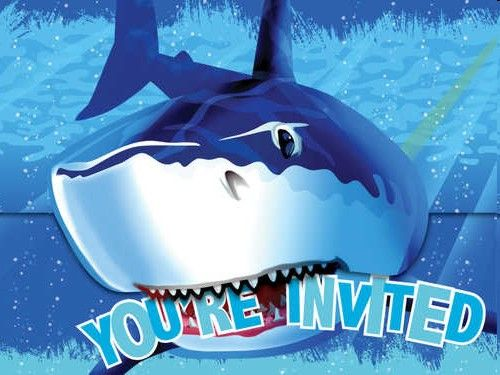 shark party invitations p яty shark attack pinterest party