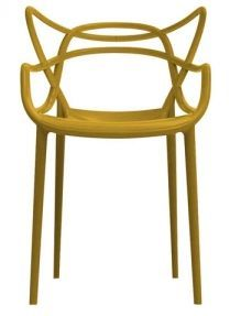Chaise design jaune moutarde